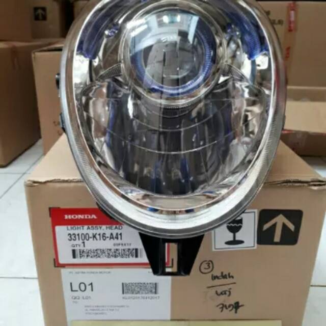 Lampu Depan Reflektor motor Honda Scoopy PGM FI Scoopy eSP 33110K16A01 | Shopee Indonesia