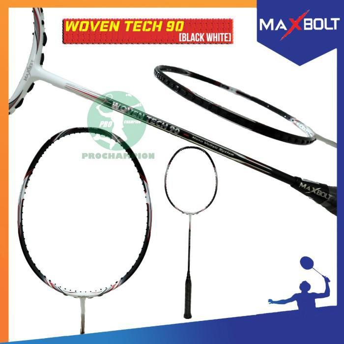 Maxbolt Woven Tech 90 Raket Badminton Original - Black Blue