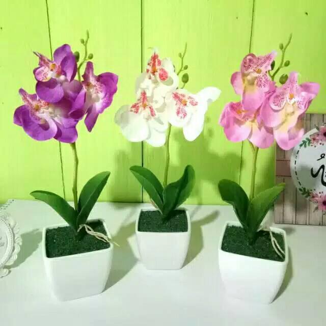Bunga Anggrek Plastik Bunga Anggrek Palsu Anggrek Bulan Anggrek Artificial Shopee Indonesia