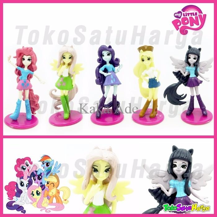 Figure My Little Pony Orang 8 Cm Miniatur Action Kuda Poni 5 Pc Set 1wr0 Shopee Indonesia