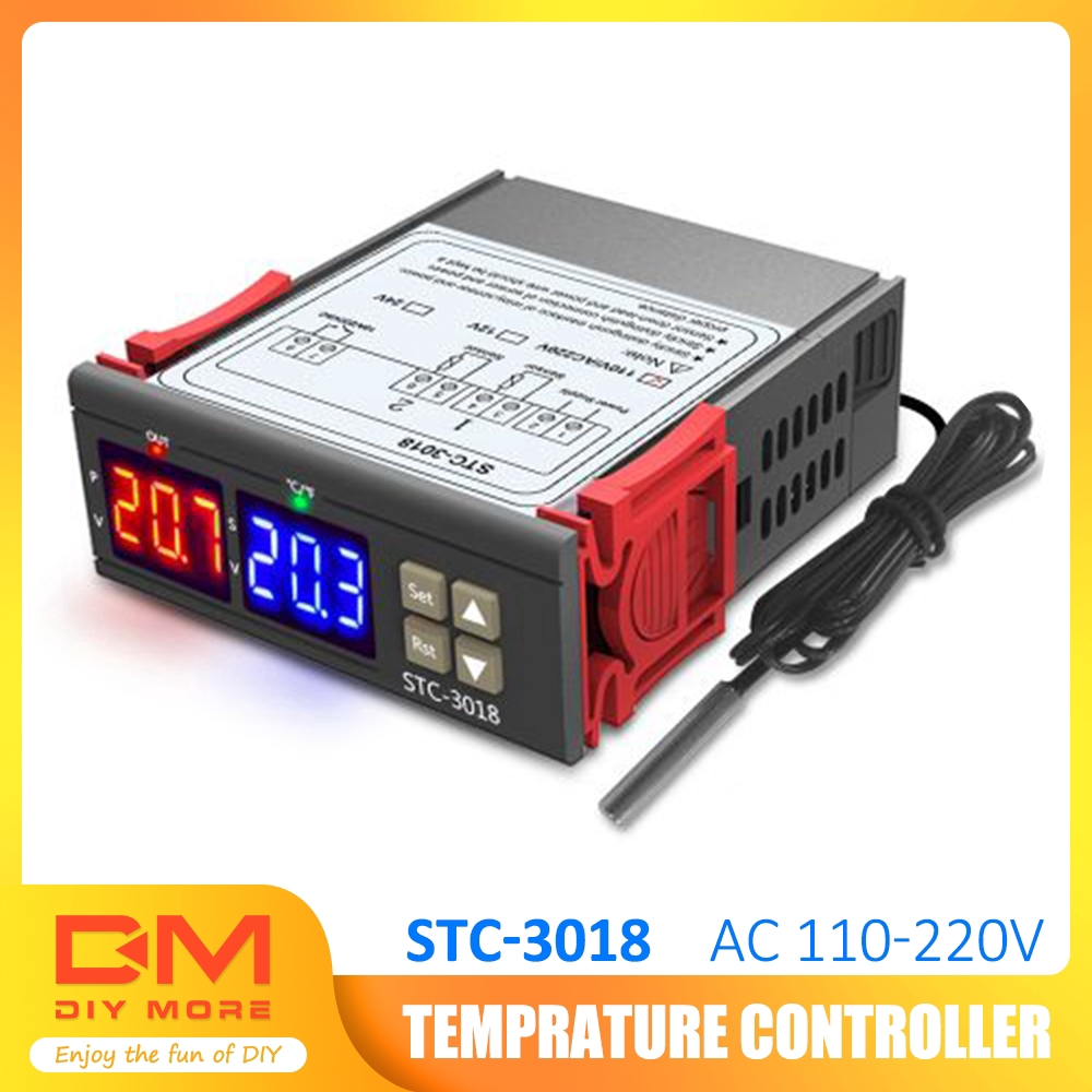 Dual Stage Digital Temperature Time Controller Thermostat NTC Sensor Probe