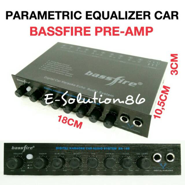 Parametric Equalizer Mobil Bassfire Preamp Bass Treble Control Parametrik Audio Mobil Pre Amp Shopee Indonesia