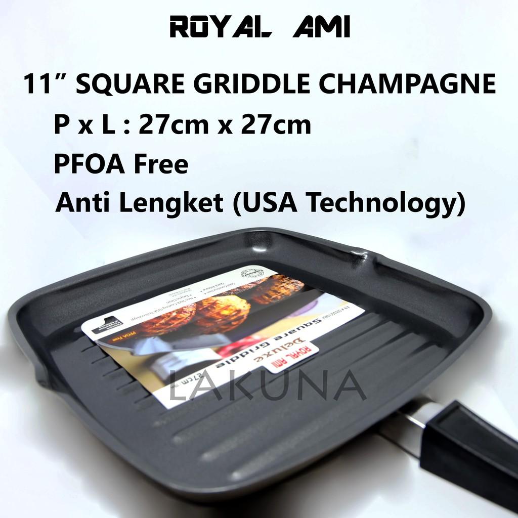 Square Grill Pan Teflon Non Stick Frying Wajan Mini Panci 20 Cm Bbq Bakaran Sate Serbaguna Shopee Indonesia