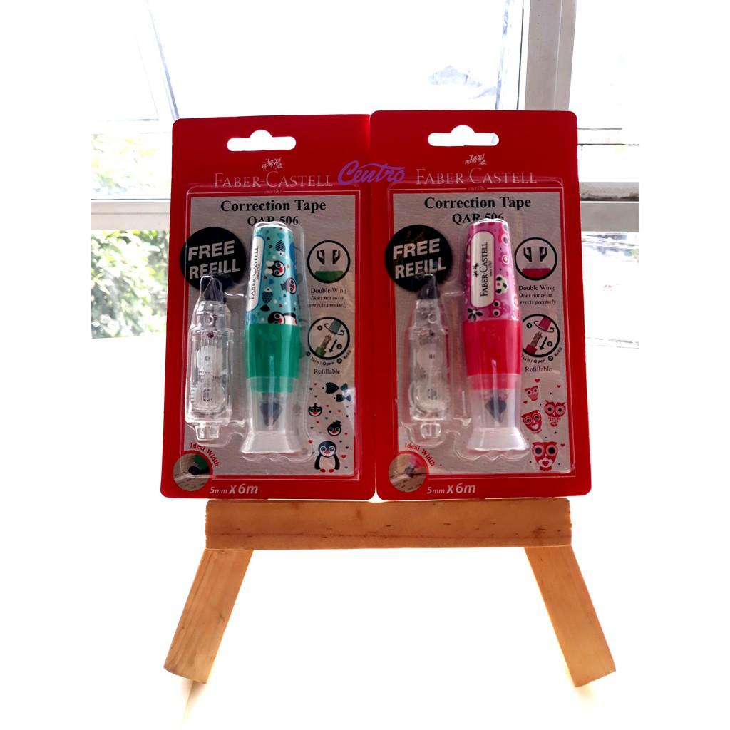 Paket Lengkap Correction Tape + Refill Faber Castell SR-506   Shopee Indonesia
