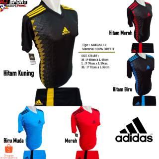 [ BEST SELLER ] Baju Olahraga Jersey Bola Setelan Futsal / Volly Badminton Adidas