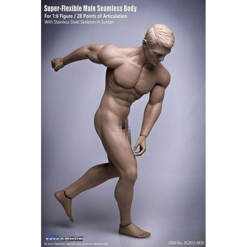 1//6 Male Body Figure TBLeague Phicen Seamless Muscular Steel M30 M31 M32 M33 M34