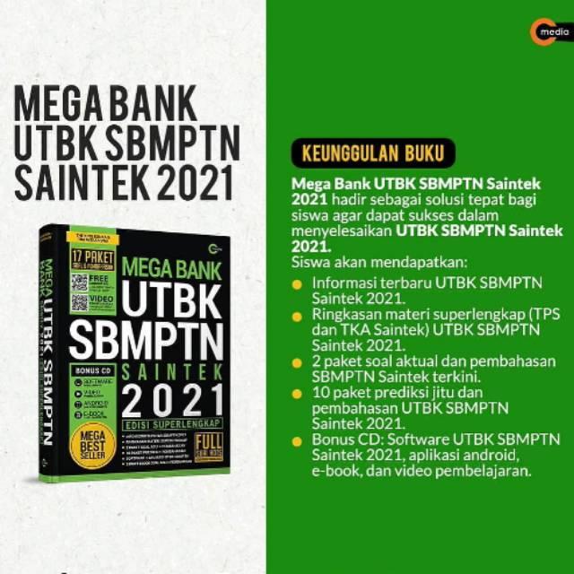 Buku Mega Bank Utbk Sbmptn Saintek 2021 Terbaru Shopee Indonesia