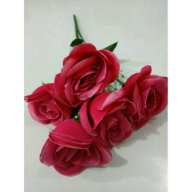 Rose artificial flower - bunga ros fanta - home decor - shabby chic -  dekorasi pesta 9988c155fa