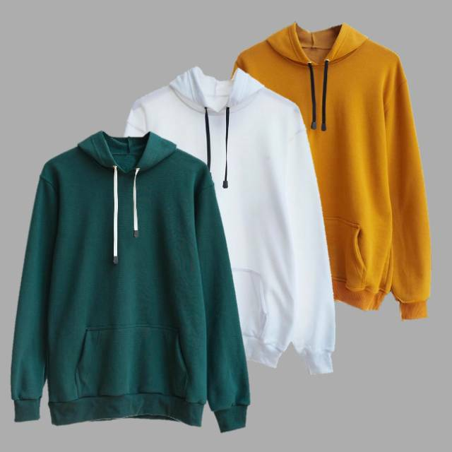 Sweater Hoodie Polos Unisex Pria dan wanita Size M sampai XXL ...