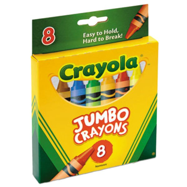 12 or 24 Jumbo or Washable Twistables 8 Crayola Crayons Large Easy-Grip