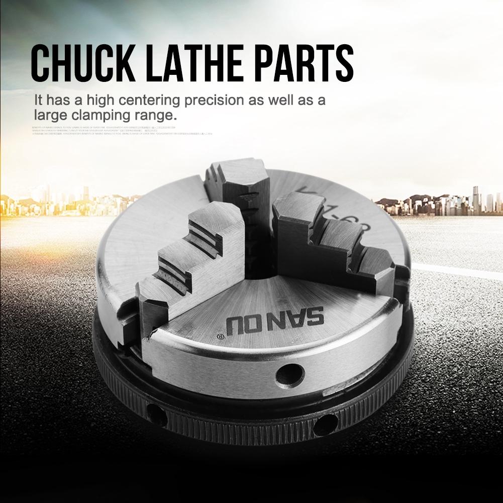 "Mini 3 Jaw K01-63 2.5/"" 63mm M14 Reversable Self-Centering Jaws Lathe Chuck"