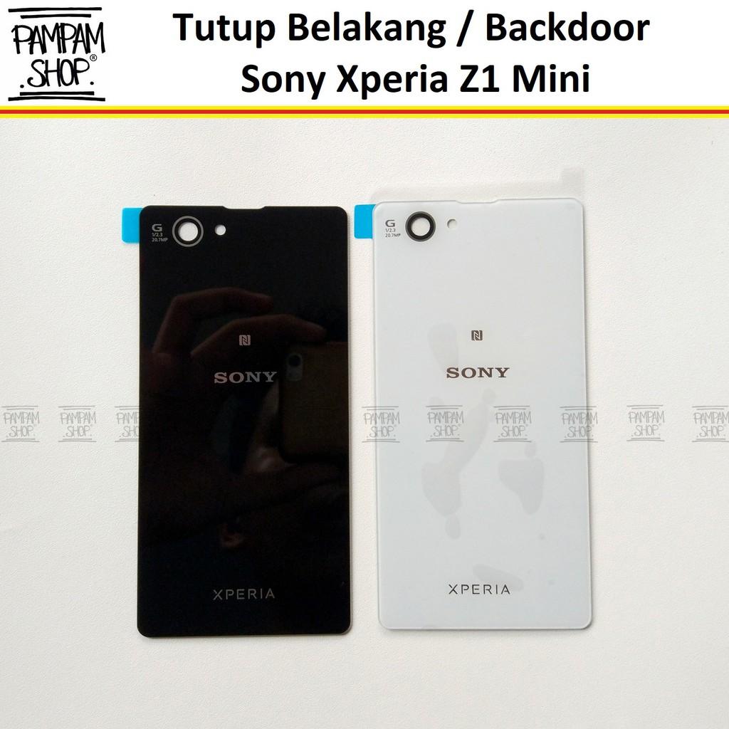 Tutup Belakang Baterai Casing Backdoor Back Door Cover Sony Xperia Z1 Mini Original OEM Hitam Putih | Shopee Indonesia