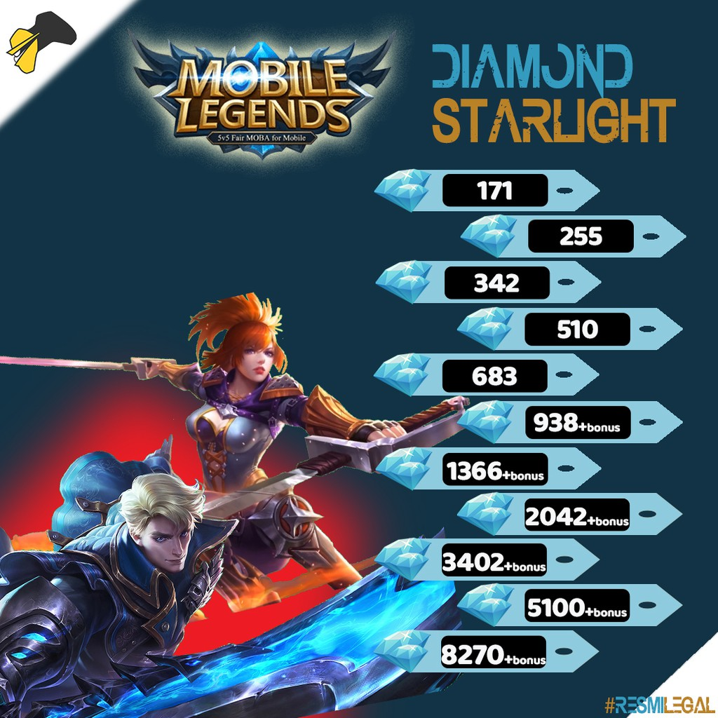 Top Up Kilat Diamond Dan Starlight Mlbb Mobile Legend Shopee Indonesia