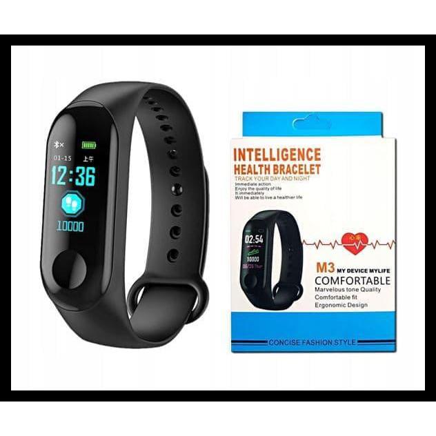 Smartwatch M3 Smart Watch M3 Smartband Heart Oled Xiaomi Mi Band 3 Shopee Indonesia