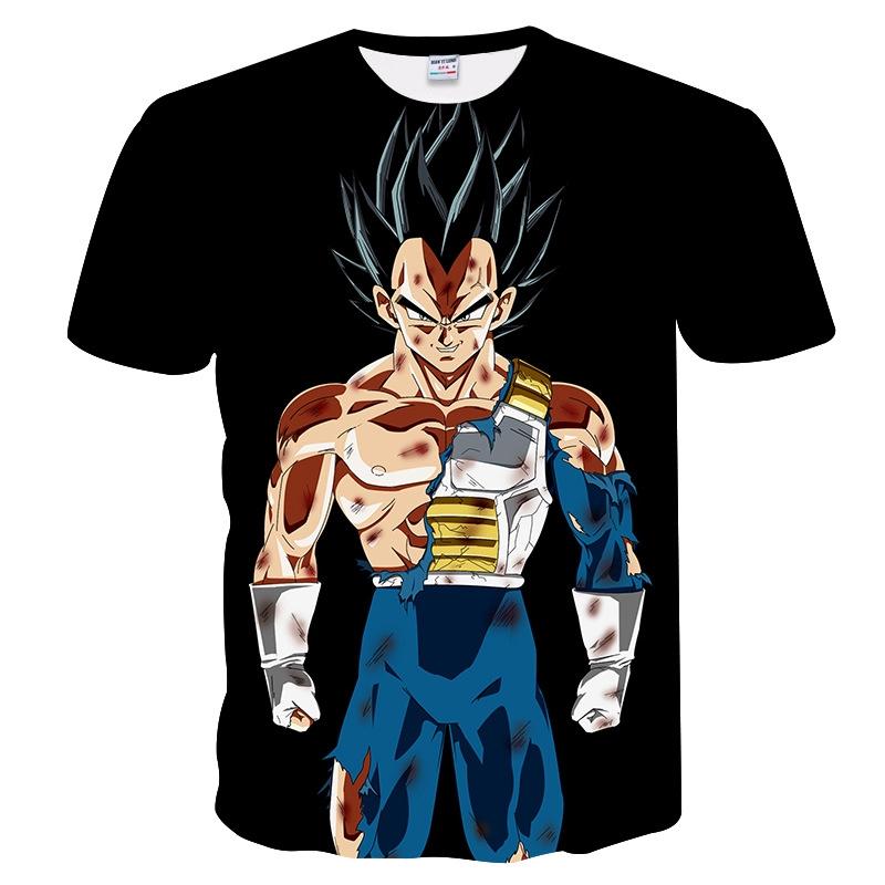 Mens Womens Dragon Ball Z Vegeta Goku 3D Print T-Shirts Casual Tees Anime Shirts