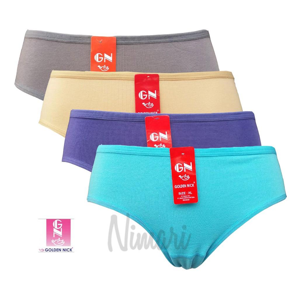 6pcs CD   Celana dalam wanita merk Golden Nick label merah art 939 ... ab39367139