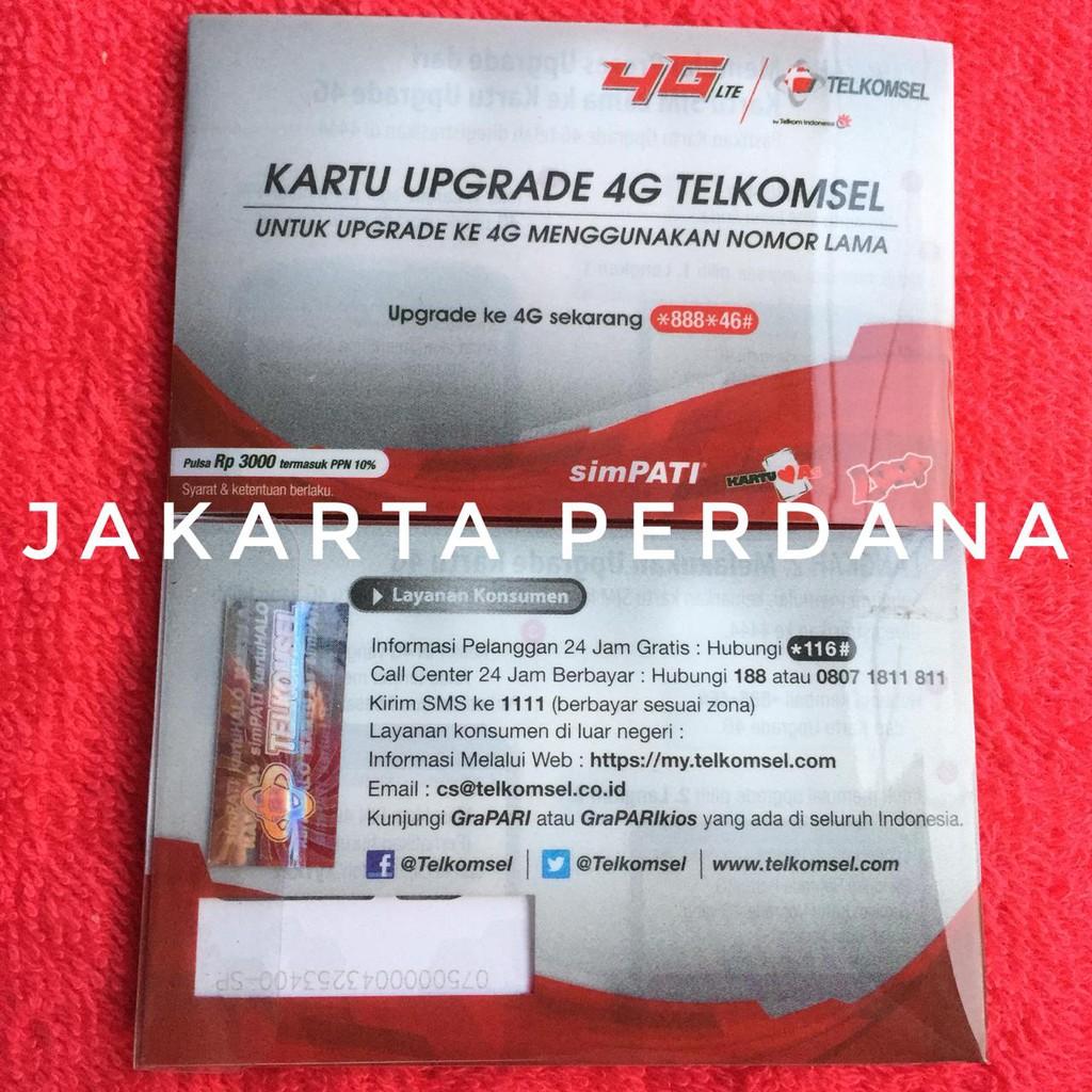 Perdana Tri Upgrade Kartu Reguler Biasa Shopee Indonesia Data Aon 1gb