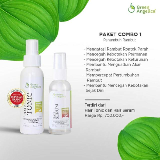 Combo  Obat Penumbuh Rambut Botak Alami Dg Cepat Green Angelica Mengatasi Rontok Shopee Indonesia
