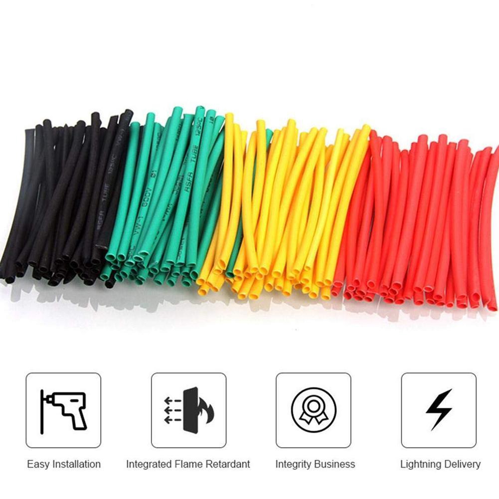 328Pcs Polyolefin 2:1 Heat Shrink Tubing Sleeving Wire Cable Wrap Sleeve Tube