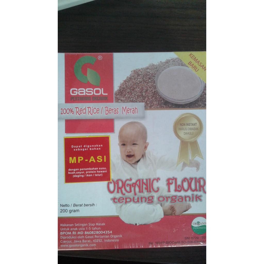 Tepung Gasol Organik Makanan Bubur Bayi Pendamping Asi Mpasi Beras Merah Sereal Jajan Snack Sehat Anak Shopee Indonesia