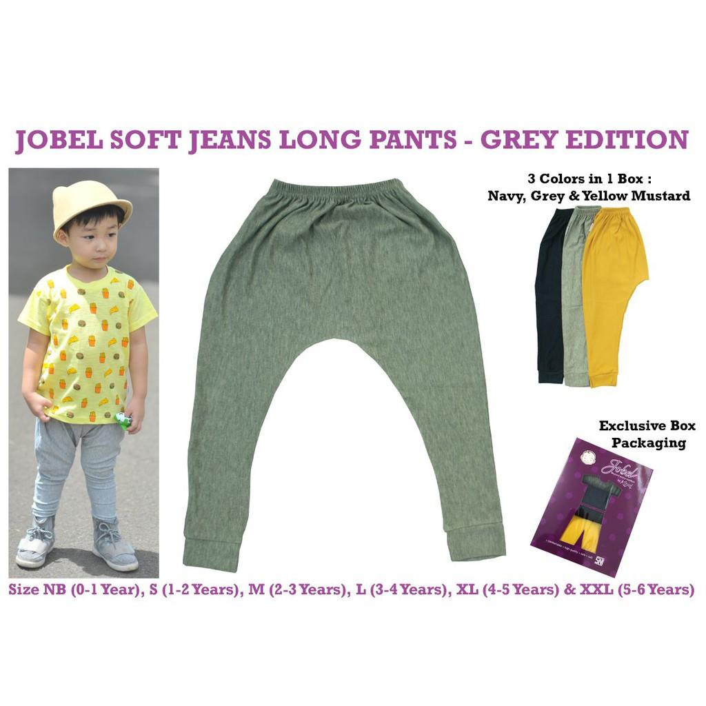 Kazel Jobel Baby Long Pants Grey Edition Celana Panjang Anak 3in1 Short Dino Pendek 4in1 Size M Dan L Shopee Indonesia