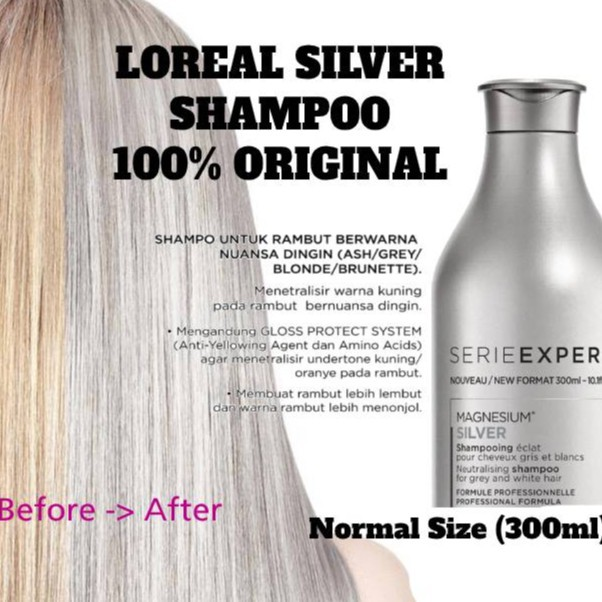 LOreal Professionnel Serie Expert Silver Shampoo / Conditioner 300ml | Purple Shampoo-2