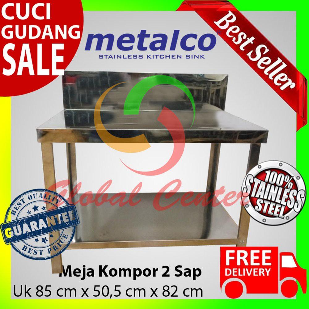 Meja Dapur Kompor Stainless Steel 3 Rak Serbaguna Metalco Daftar 2 Harga Pabrik Shopee Indonesia