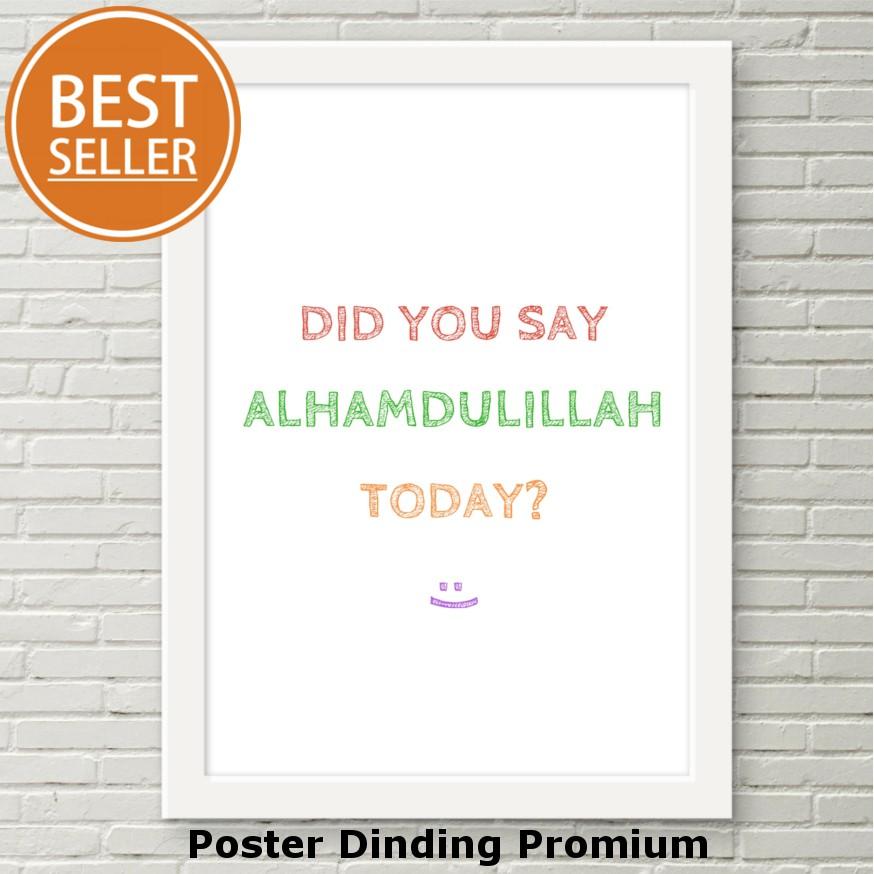 Hiasan Dinding Poster Dinding Frames Quotes Bingkai Motivasi Wall Decor Dinding  Rumah 27  d4017461f3