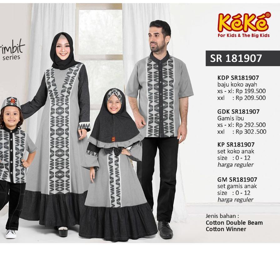 DTC9 (size 9 - size 9) Sarimbit Keke Couple Keluarga Katun SR 181997  MERAH / HITAM / HIJAU ..!!