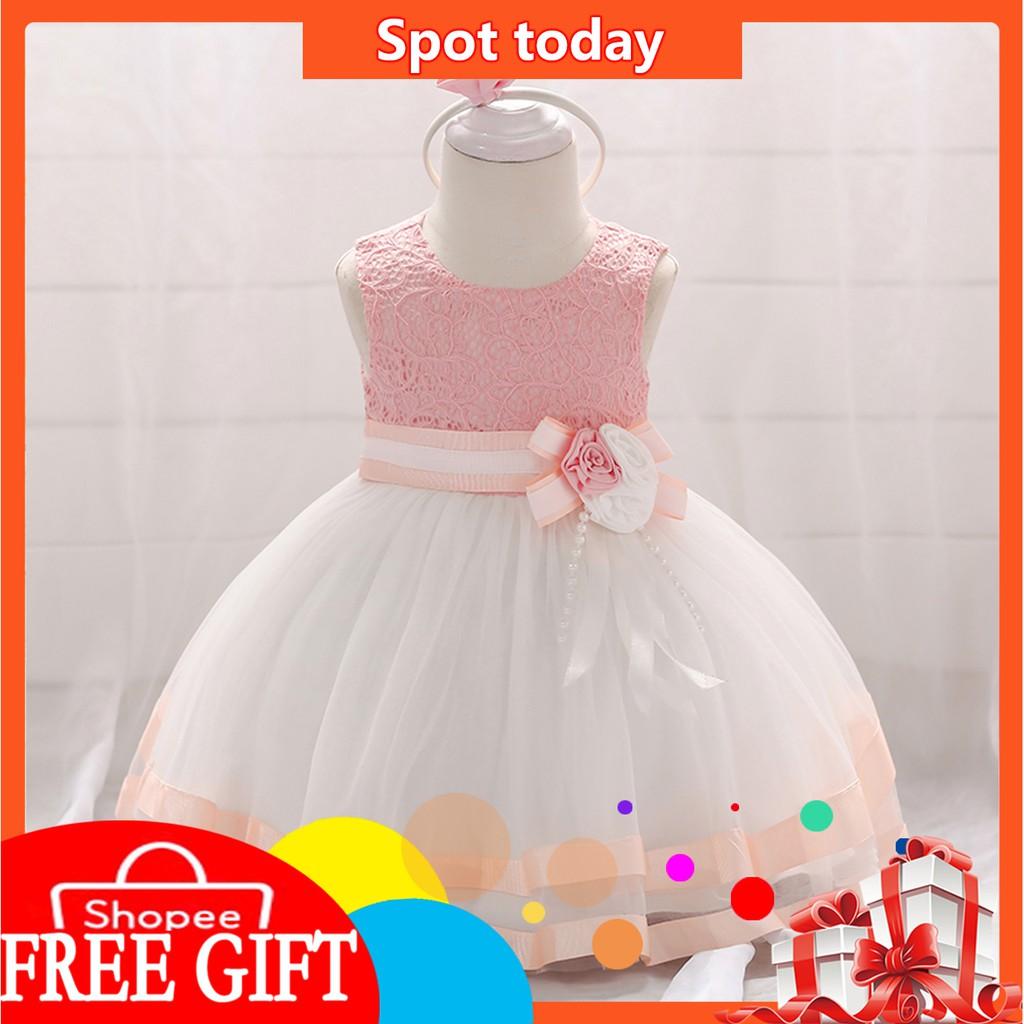 Anak Anak Gaun Putri Gaun Elegan Gaun Pengantin Anak Anak Gaun Pesta