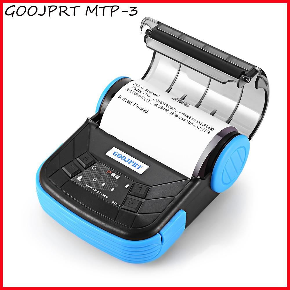 Goojprt Mtp 3 Portable 80mm Bluetooth Thermal Printer Exquisite Iware 58 Mm Untuk Android Lightweight Design Eu Plug Shopee Indonesia