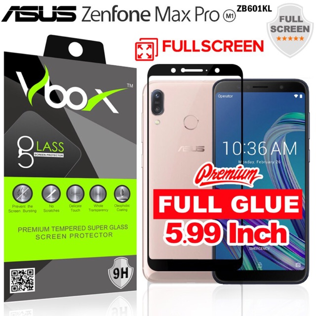 HMC Asus Zenfone Max M1 / Zb555kl Tempered Glass Class Pro A 2.5D - Clear | Shopee Indonesia