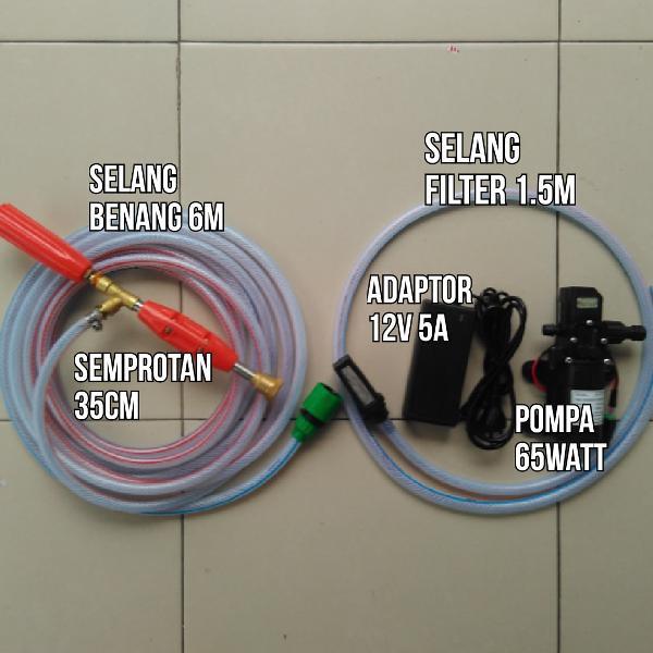 spek tertinggi 120psi 8,5bar 5lpm Alat Cuci AC Motor Mobil Steam Jet Mist paket pompa DC 12V | Shopee Indonesia