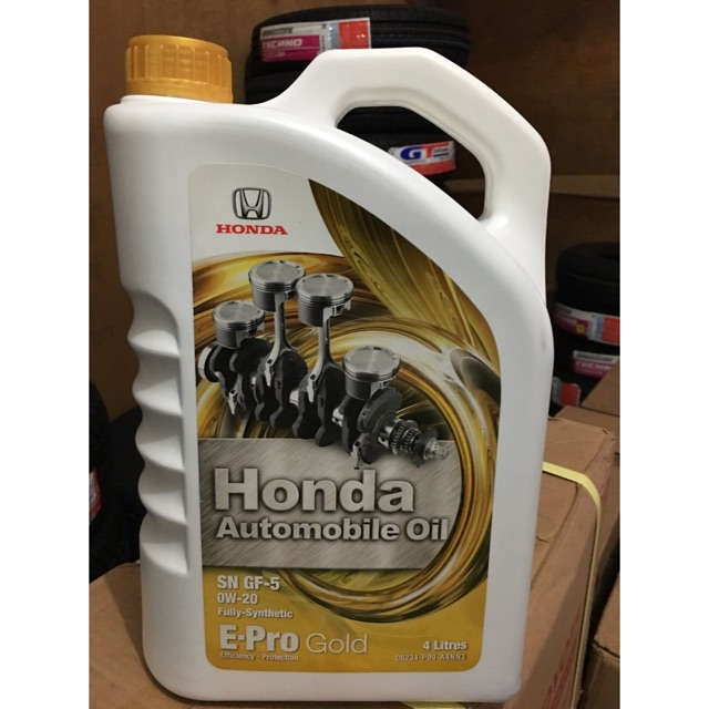 Oli Honda Epro Gold SAE 0W/20 API SN Full Sintetik Galon 4 liter | Shopee Indonesia