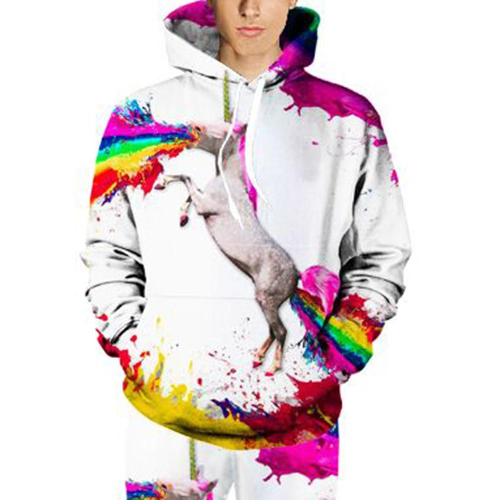 Ready Sweater Kaos Hoodie Pullover Motif Print Unicorn 3D Warna Pelangi untuk Wanita | Shopee Indonesia