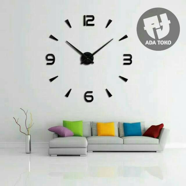 Jam Dinding DIY Jumbo Model Angka Dan Burung 60-120cm   DIY Wall Clock  5a6c537a48