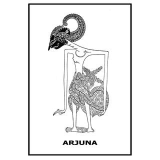 Poster Wayang Arjuna Janaka Shopee Indonesia