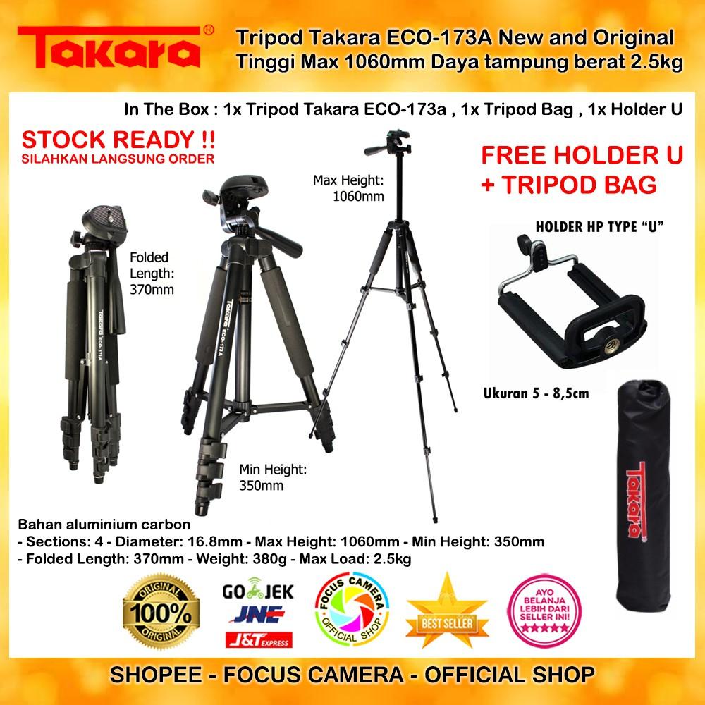Takara Eco 193a Lightweight Tripod Holder U Bag For Dslr 196a Mirrorless Canon Nikon Fujifilm Shopee Indonesia