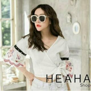 32611a205d178 sc8509 Emily Top Import   Crop Top   Blouse   Baju Atasan   BKK   Baju Murah    Summer Collections