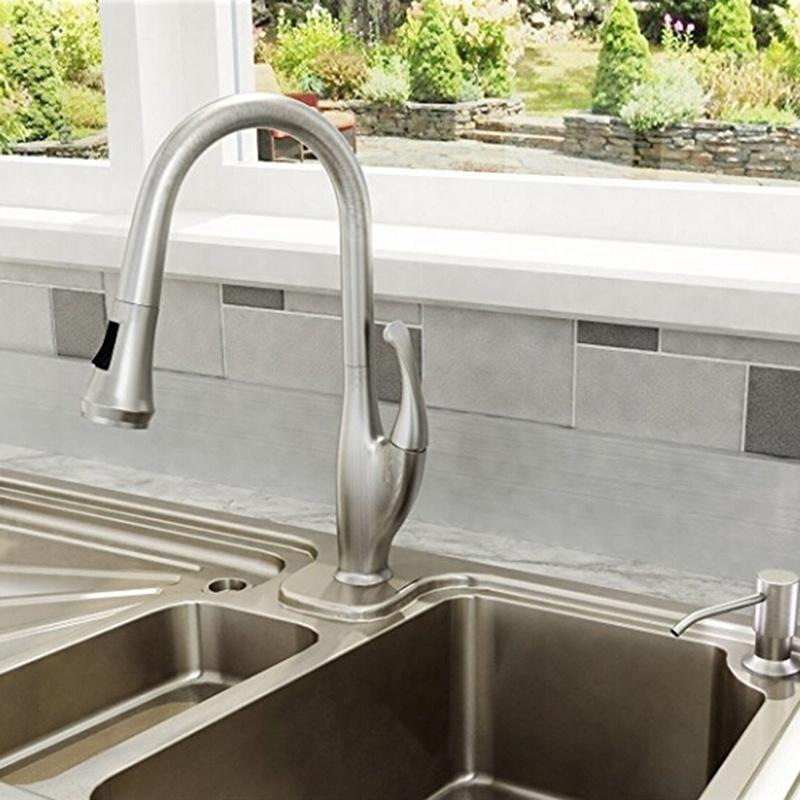 Stainless Steel Kitchen Sink Countertop Soap Dispenser Built In Hand Soap Dispenser Pump Large Capacity Soap Dispenser Shopee Indonesia