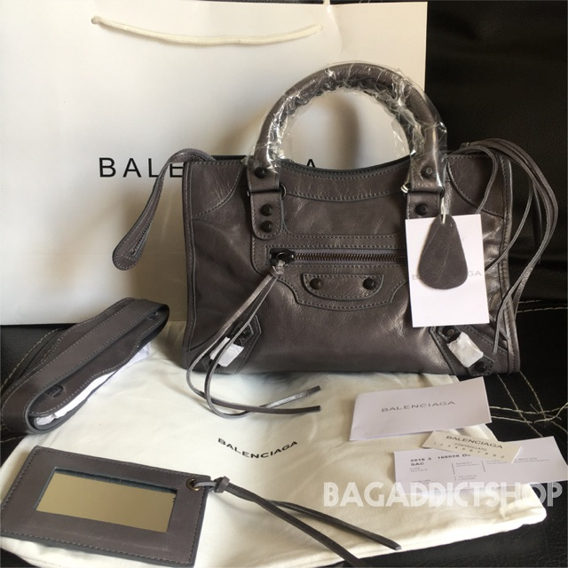 Tas BALENCIAGA Small city ( Grey ) black stud Mirror import quality 1 1 Ori  leather VIP  ac9858924d