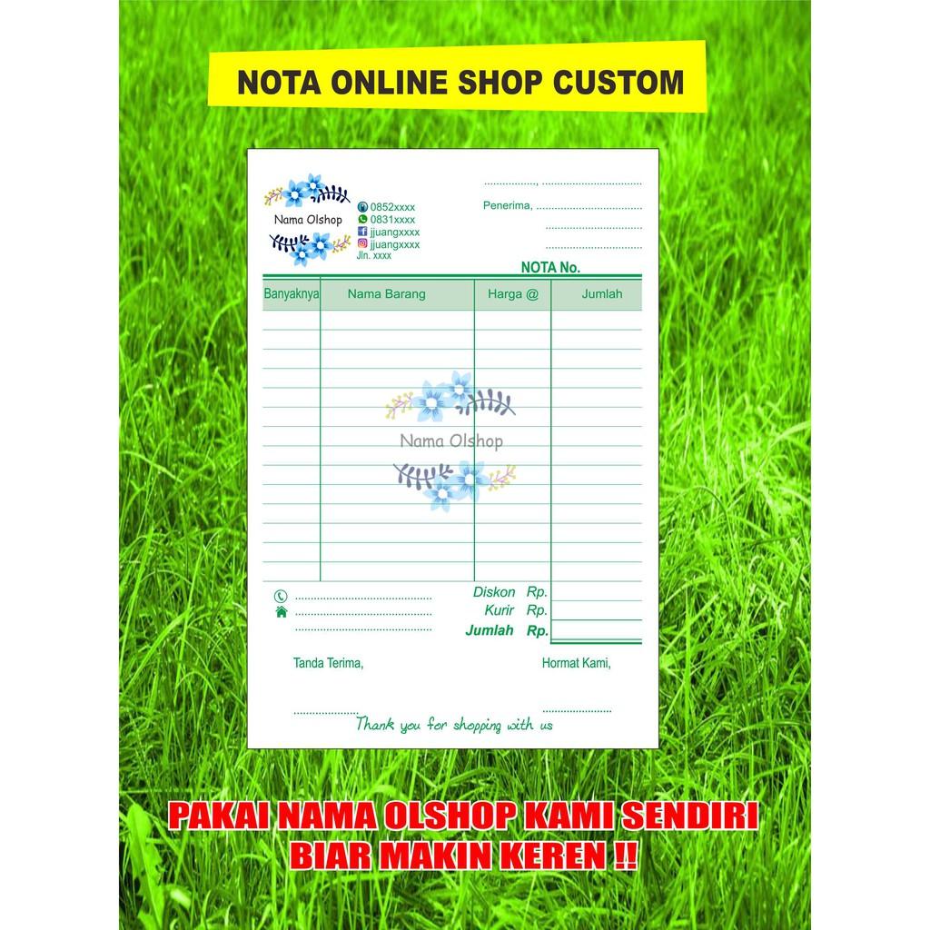 Nota Customfakturkwitanaionline Shop Custom 14 Hvs