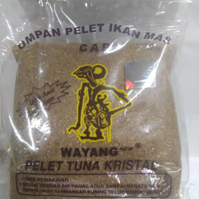 Umpan Mancing Ikan Mas Cap Wayang Pelet Tuna Kristal Lebih Amis Dan Tajam Shopee Indonesia