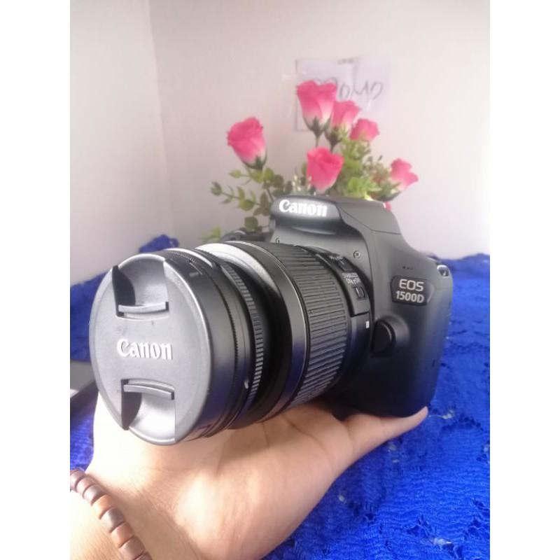 Dslr CANON 1500d Dan Lensa Kit 18-55MM Kamera Second