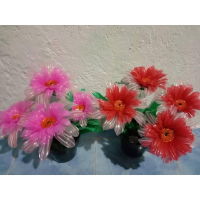 Bunga Hias Bunga Plastik Kerajinan Tangan Dari Sedotan Murah Meriah Shopee Indonesia