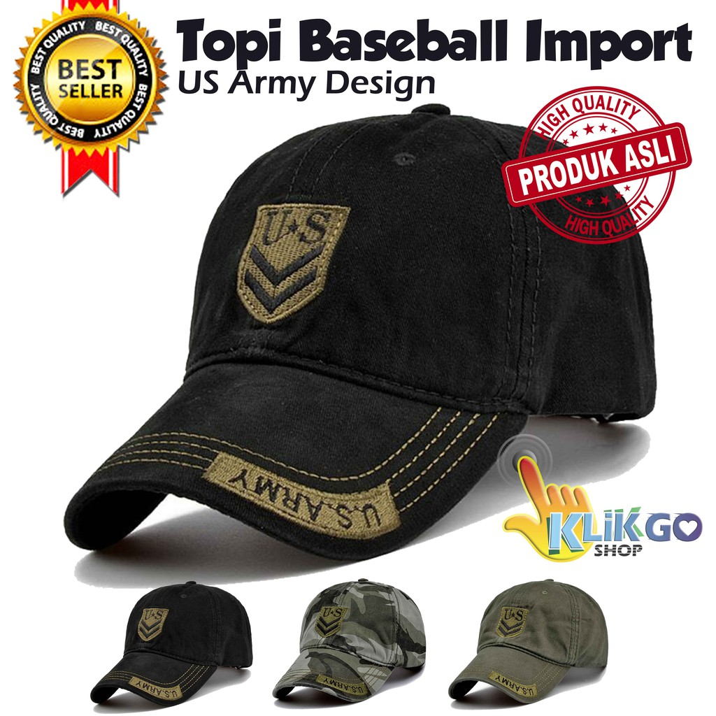 TOPI BASEBALL IMPORT US ARMY   SNAPBACK CAPS   TOPI DISTRO   TRUCKER ... 3a9a34c543