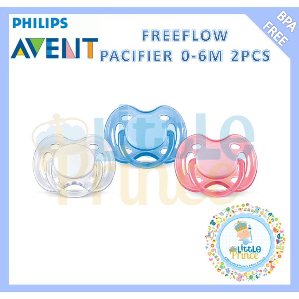Avent Freeflow Pacifier 0 6m 2pcs Shopee Indonesia Philips Single Soother White