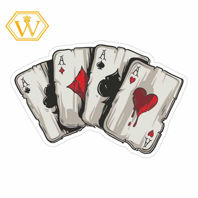 Stiker Motif Kartu Poker Lucu Untuk Body Jendela Mobil Truk Shopee Indonesia