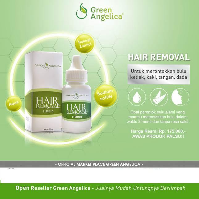 Dijamin Perontok Bulu Permanen Paket Hair Removal Liquid Ampuh By Green Angelica Shopee Indonesia