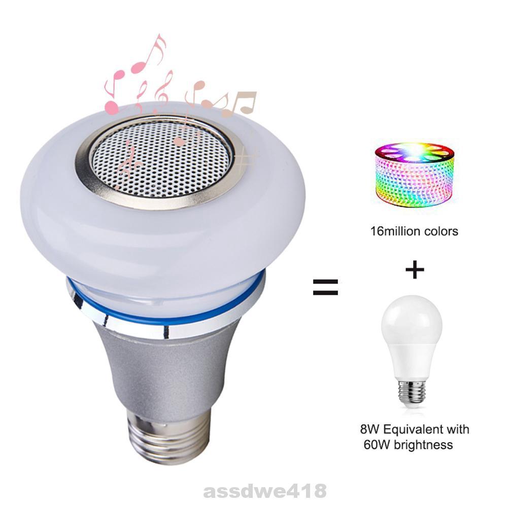 Dimmable E27 RGB Bluetooth LED Smart Light Bulb Speaker Change Brightness Lamp